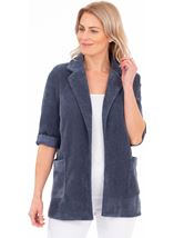 Stretch Cord Open Jacket