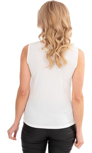 Sleeveless Beaded And Sequin Top Ivory - Gallery Image 2