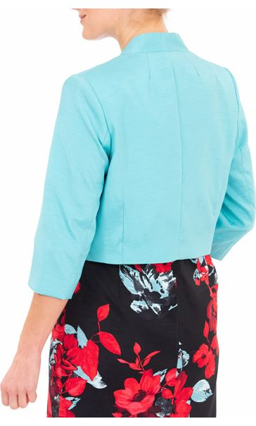 Anna Rose Shantung Jacket - Blue