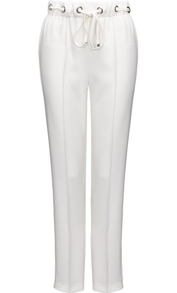 Anna Rose Pull On Crepe Trousers Ivory - Gallery Image 3