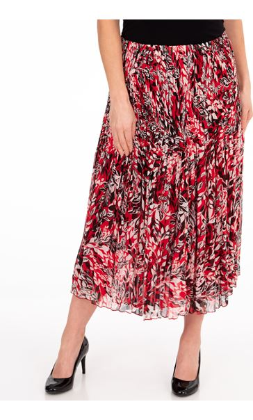 Anna Rose Printed Pleat Midi Skirt