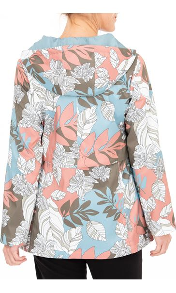 Anna Rose Floral Print Zip Coat