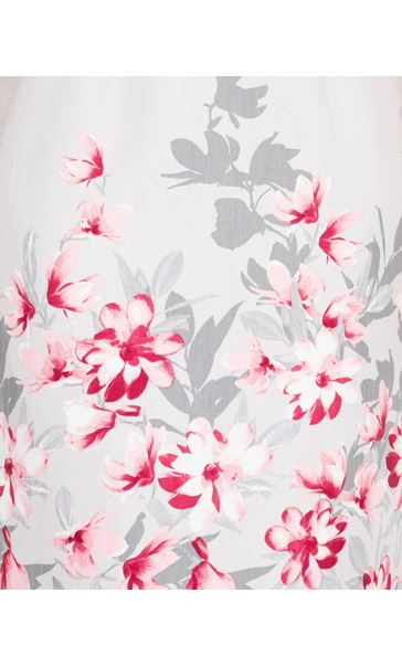 Anna Rose Border Print Fitted Dress Silver Grey/Pink - Gallery Image 4