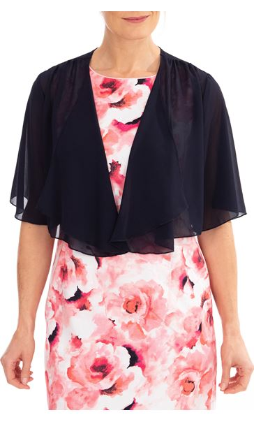 Anna Rose Open Chiffon Cover Up Midnight - Gallery Image 1