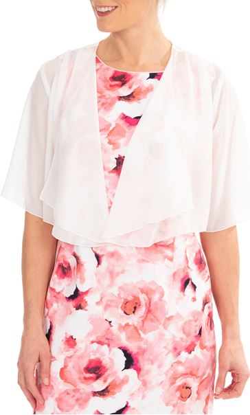 Anna Rose Open Chiffon Cover Up - Ivory