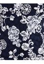 Anna Rose Lace Printed Short Sleeve Top Midnight/Ivory - Gallery Image 4