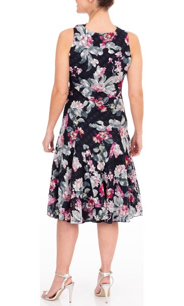 Anna Rose Floral Print Midi Dress Midnight/Multi - Gallery Image 2