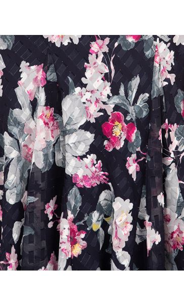 Anna Rose Floral Print Midi Dress Midnight/Multi - Gallery Image 4