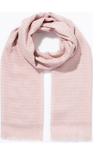 Shimmer Stripe Scarf - Orange