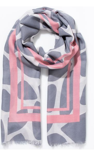 Pebble Print Scarf Pink - Gallery Image 1
