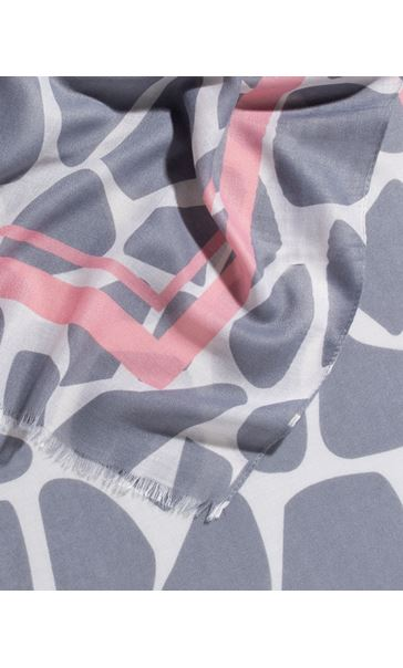 Pebble Print Scarf Pink - Gallery Image 2