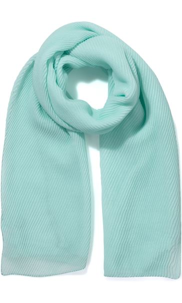 Lightweight Pleated Scarf - Mint