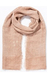 Embroidered Stripe And Sequin Scarf