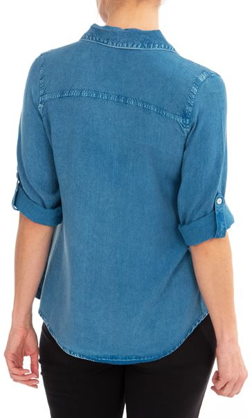 Anna Rose Washed Shirt Denim Blue - Gallery Image 2