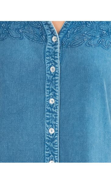 Anna Rose Washed Shirt Denim Blue - Gallery Image 4