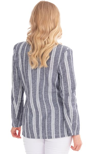 Striped Linen Blend Jacket