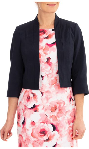 Anna Rose Shantung Jacket Midnight - Gallery Image 1