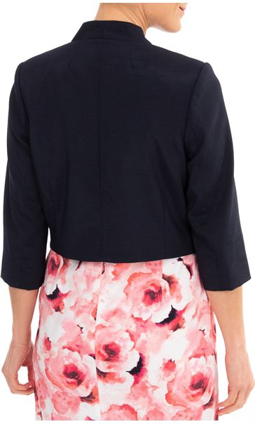 Anna Rose Shantung Jacket Midnight - Gallery Image 2