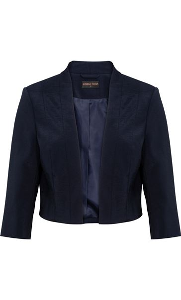 Anna Rose Shantung Jacket Midnight - Gallery Image 3