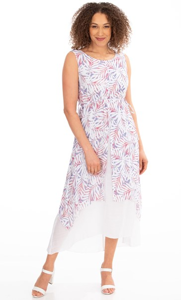 Layered Sleeveless Printed Maxi Dress