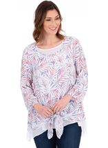 Double Layered Dip Hem Tunic