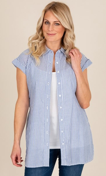 Short Sleeve Striped Tunic
