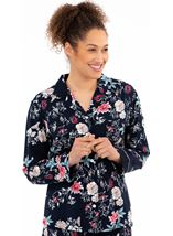 Long Sleeve Floral Print Pyjama Top