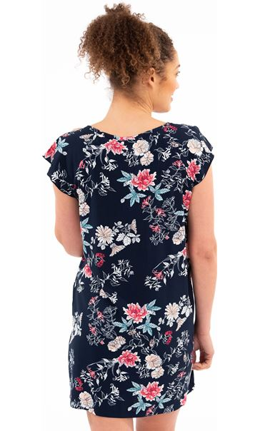 Floral Printed Nightdress Navy Floral - Gallery Image 2