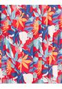 Floral Print Pleated Dress Red/Blue - Gallery Image 3