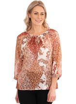 Paisley Print Georgette Top