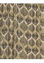 Pleated Print Round Neck Dress Olive/Lime - Gallery Image 3