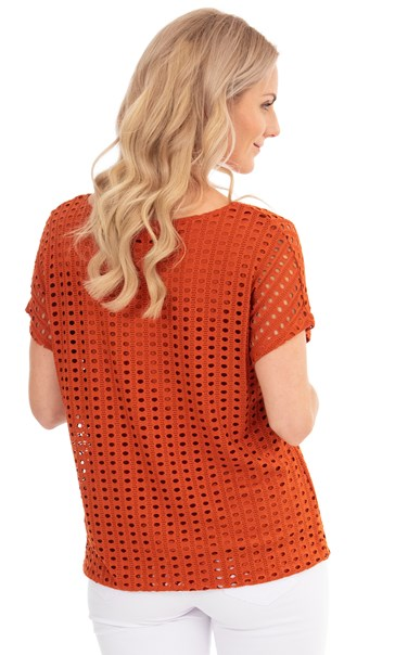 Layered Short Sleeve Top Rust - Gallery Image 2