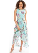 Floral Chiffon Sleeveless Dress