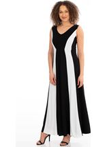 Panelled Sleeveless Maxi Dress