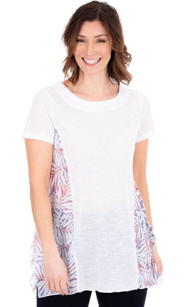 Printed Panel Dip Hem Tunic