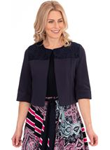 Lace Trim Scuba Jacket