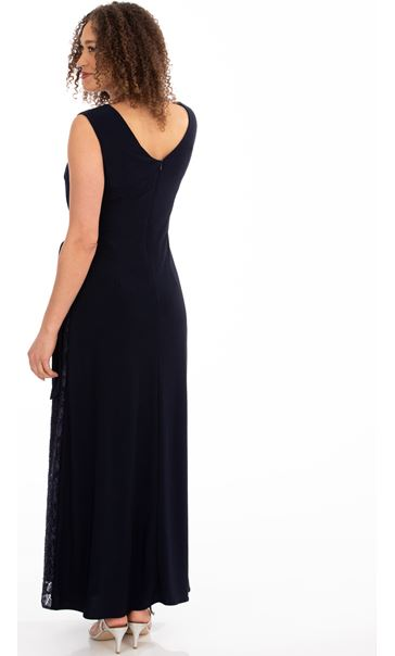Lace Panelled Sleeveless Maxi Dress Midnight - Gallery Image 2