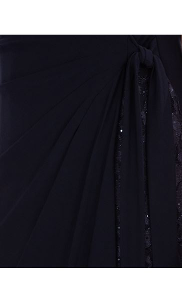 Lace Panelled Sleeveless Maxi Dress Midnight - Gallery Image 3
