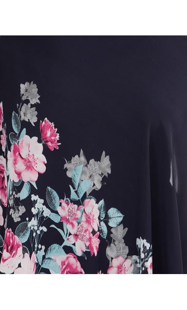 Cold Shoulder Embellished Chiffon Layer Top Midnight/Purple - Gallery Image 3