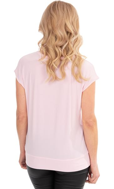 Embellished Stretch Top Pink - Gallery Image 2