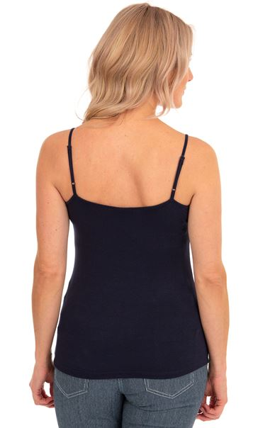Adjustable Strappy Jersey Cami Top Marine Blue - Gallery Image 2