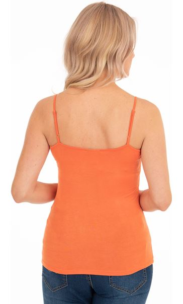 Adjustable Strappy Jersey Cami Top Orange - Gallery Image 2