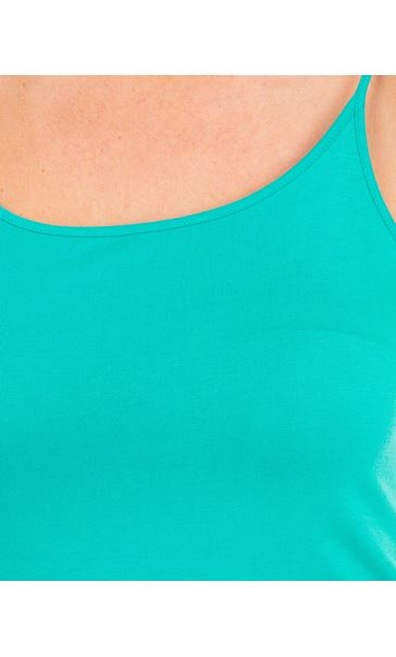 Adjustable Strappy Jersey Cami Top Green - Gallery Image 3