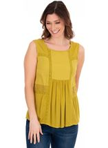 Sleeveless Crinkle Top