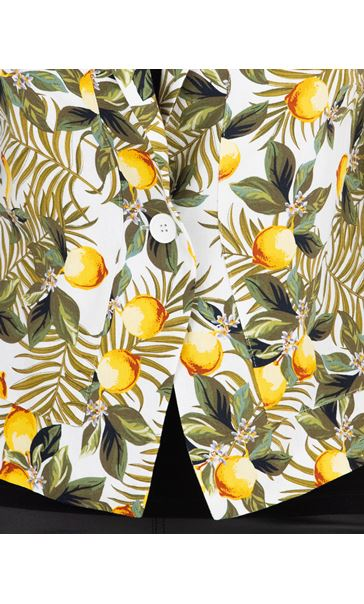 Lemon Printed Jacket Green/Yellow - Gallery Image 3