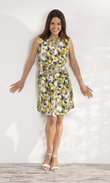 Sleeveless Lemon Print Tunic