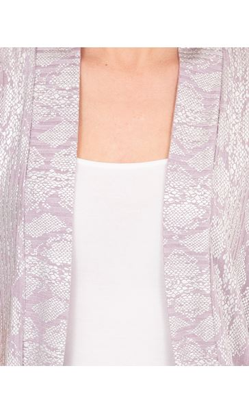 Oversized Snake Print Lightweight Knit Cover Up Lilac - Gallery Image 3