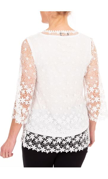 Anna Rose Lace Top White - Gallery Image 2