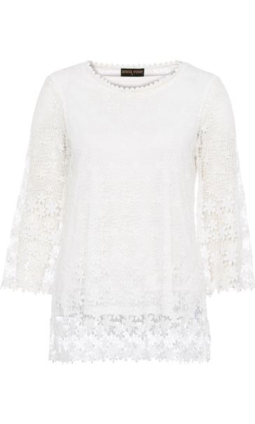 Anna Rose Lace Top White - Gallery Image 3