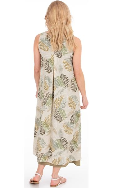 Sleeveless Layered Maxi Dress Olive - Gallery Image 2